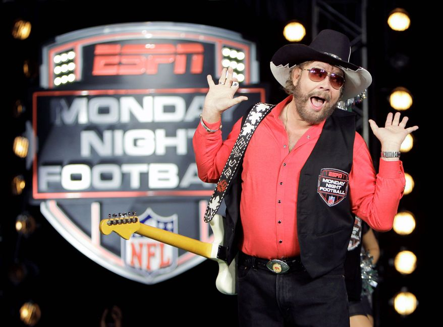 """ESPN pulled the plug on Hank Williams Jr.'s opening for """"Monday Night Football"""" because of comments he made on """"Fox & Friends."""" (Associated Press)"""