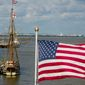 In this Oct. 4, 2011, file photo, the Godspeed, a re-creation of one of the three ships that brought America's first permanent English colonists to Virginia in 1607, has sailed up from the Jamestown Settlement History Museum and docked near the Alexandria City Marina, adjacent to Founders Park in Old Town Alexandria. (Andrew Harnik/The Washington Times) ** FILE **