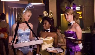 """The Playboy Club""bunnies (from left) Amber Heard, Naturi Naughton and Leah Renee need to find new jobs. NBC is replacing the Monday night program with Brian Williams' ""Rock Center."" (Photograph provided by NBC)"