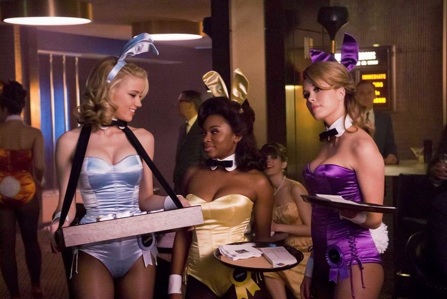 """""""The Playboy Club""""bunnies (from left) Amber Heard, Naturi Naughton and Leah Renee need to find new jobs. NBC is replacing the Monday night program with Brian Williams' """"Rock Center."""" (Photograph provided by NBC)"""