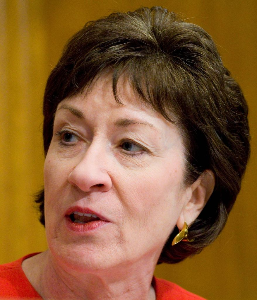 Sen. Susan Collins, Republican from Maine, is among members of Congress who want local jurisdictions to have freedom in school lunch decisions. (Associated Press)