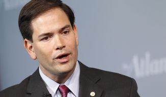 Sen. Marco Rubio, Florida Republican, speaks during the third annual Washington Ideas Forum on Oct. 5, 2011, at the Newseum in Washington. (Associated Press)