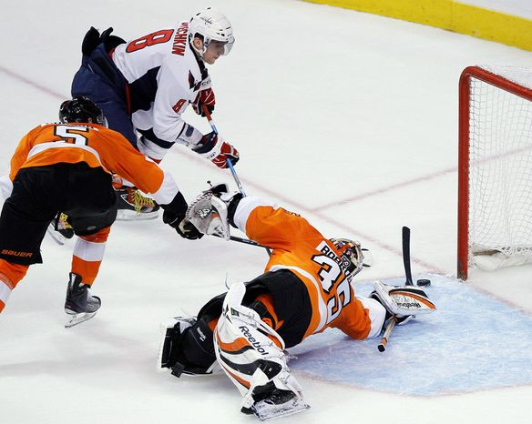 """Alex Ovechkin is seeking a return to form this season, saying, """"My goal is to score goals, create some dangerous moments and find my partners so they find moments to score goals."""" (Associated Press)"""