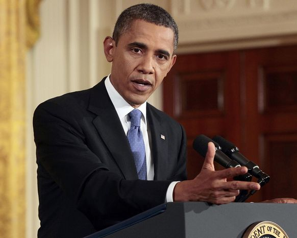President Obama speaks during a news conference at the White House on Oct. 6, 2011. (Associated Press)
