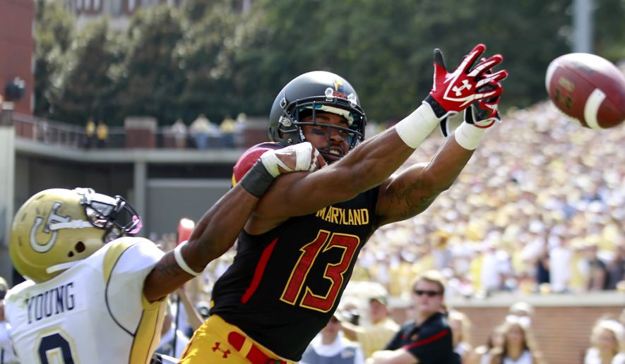 Dropped passes have plagued the Maryland Terrapins' passing attack this season. (AP Photo/John Bazemore)
