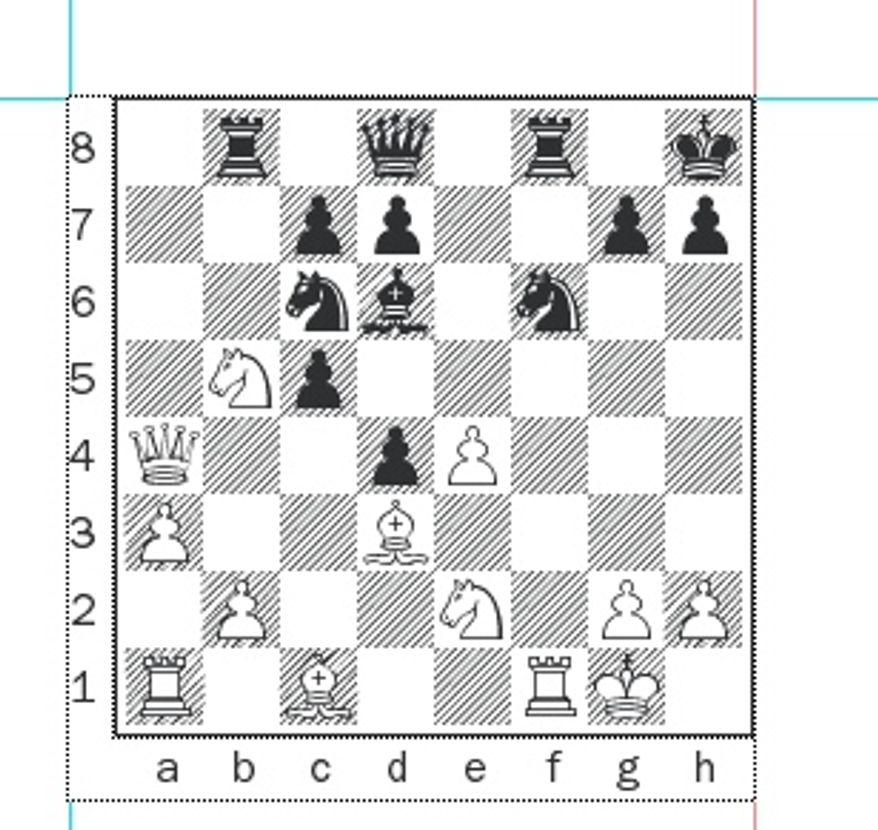 Sarkar-Shabalov after 17. Qa4.
