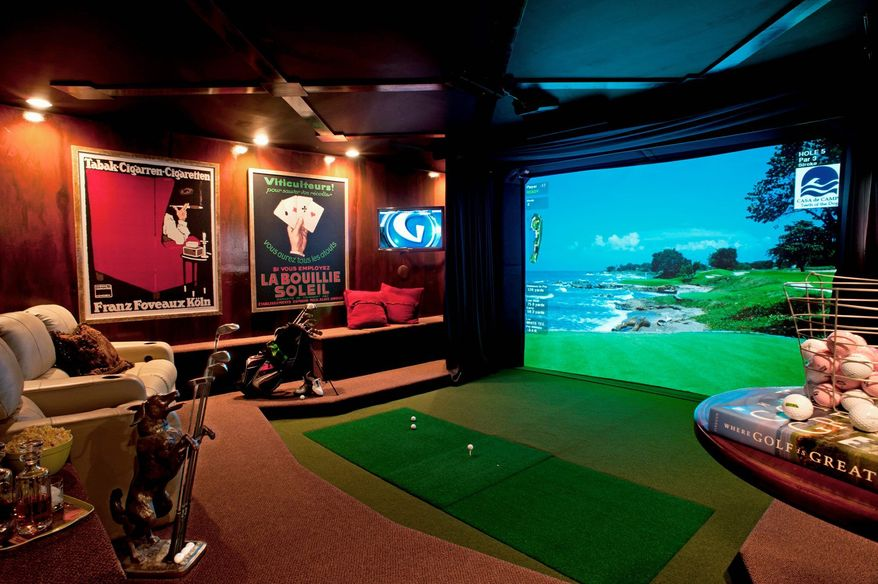 Photo courtesy of Virgil Ocampo If space is not an issue, a virtual golf course could be installed to create the ultimate man cave.