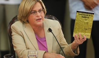 """""""We must stop looking at the drug cartels today solely from a law-enforcement perspective,"""" said Rep. Ileana Ros-Lehtinen, Florida Republican. (Associated Press)"""