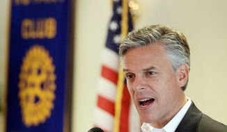 GOP presidential hopeful Jon Huntsman Jr. campaigns Thursday in Greenland, N.H. The former Utah governor said he'd boycott Nevada's caucuses if they try to upstage New Hampshire's primary. (Associated Press)