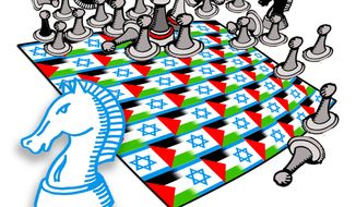 Illustration: Israel by John Camejo for The Washington Times