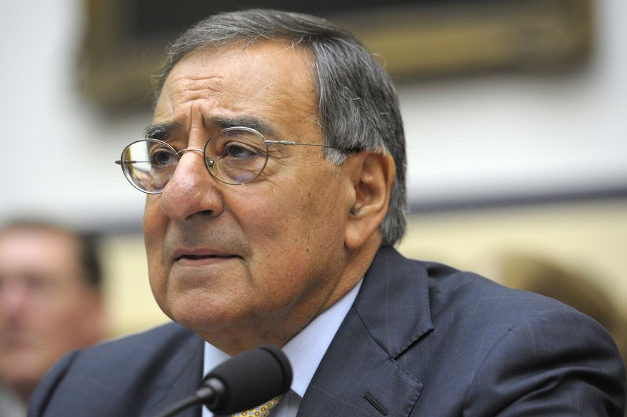 Defense Secretary Leon E. Panetta testifies before the House Armed Services Committee on Capitol Hill in Washington on Thursday, Oct. 13, 2011. (AP Photo/Cliff Owen)