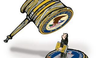 Illustration: Whistleblower bashing by John Camejo for The Washington Times