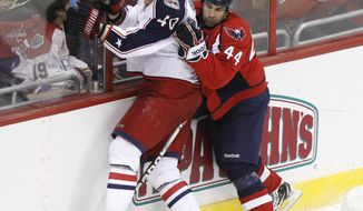 Washington Capitals' Roman Hamrlik will break the Czech record for games played Saturday against the Ottawa Senators. (AP Photo/Charles Dharapak)