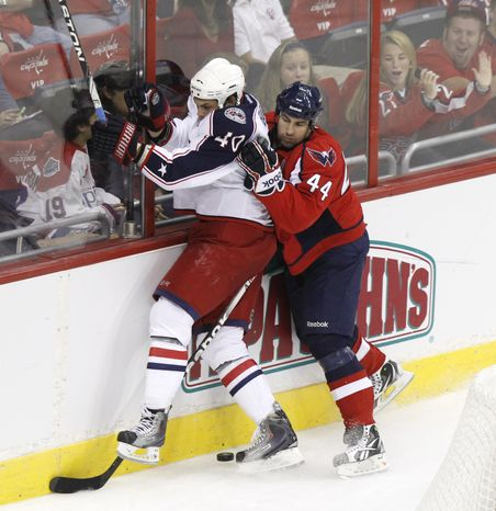 Washington Capitals' Roman Hamrlik will break the Czech record for games played Saturday against the Ottawa Senators. (AP Photo/Charles Dharapak)