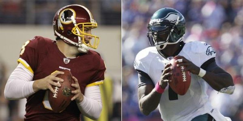 The Washington Redskins have a chance to make a statement Sunday on the road against the reeling, preseason NFC East-favorite Philadelphia Eagles. (AP Photo/Tony Gutierrez) / (AP Photo/Derek Gee)