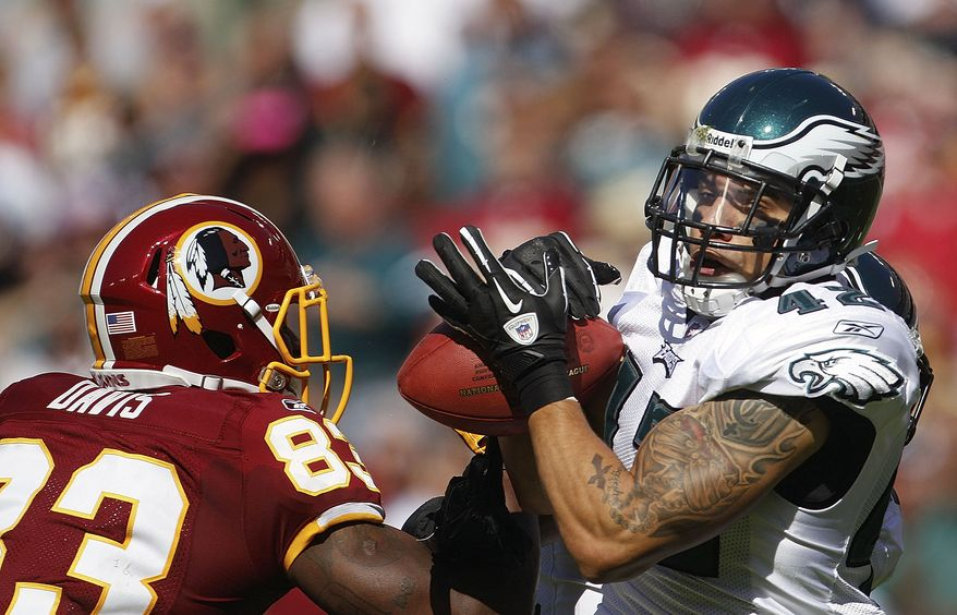 Philadelphia Eagles free safety Kurt Coleman had three interceptions against the Washington Redskins on Sunday. (AP Photo/Evan Vucci)