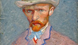 A self-portrait of Vincent van Gogh was painted in 1887. Experts at the Van Gogh Museum in Amsterdam say they are not convinced by a new biography published this week that the celebrated 19th-century Dutch artist was accidentally fatally shot by two teenagers. (Associated Press)