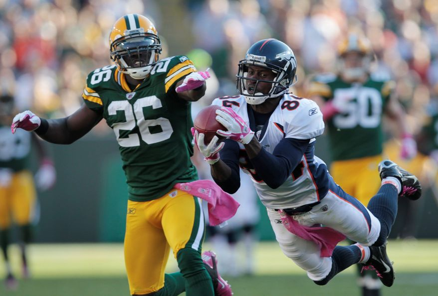 Wide receiver Brandon Lloyd was traded from Denver to St. Louis one year after leading the NFL in receiving yardage (1,448 yards) and scoring 11 touchdowns. (Associated Press)