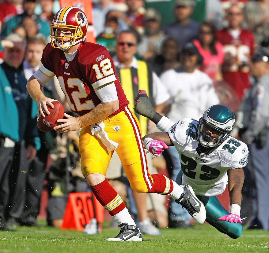 John Beck provided a spark when he replaced Rex Grossman in Sunday's loss. Beck scored the Redskins' only touchdown. (Associated Press)