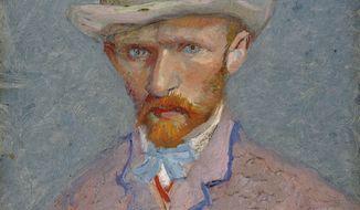 This self-portrait of Dutch painter Vincent van Gogh is dated 1887. (AP Photo/Van Gogh Museum)