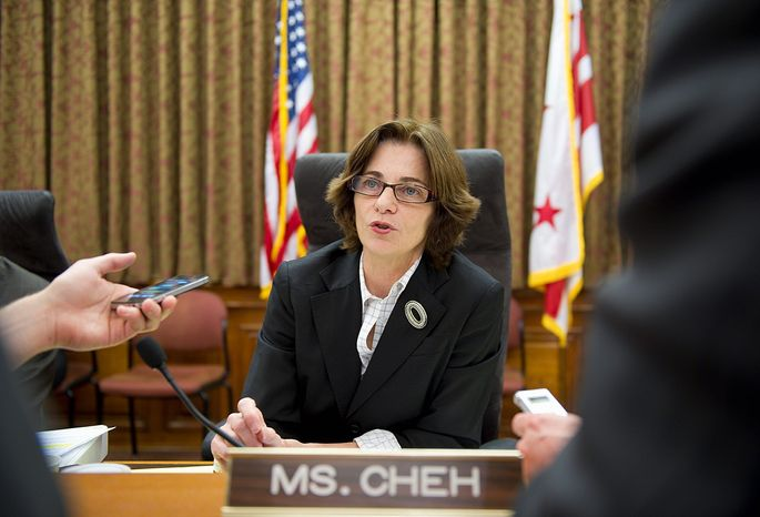 """""""A lot of it really revolved around Howard Brooks, as far as I was concerned,"""" said D.C. Council member Mary M. Cheh. """"He's like a mystery man."""" She looked into allegations of wrongdoing in the Vincent C. Gray campaign as part of her oversight duties. (Barbara L. Salisbury/The Washington Times)"""
