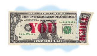 Illustration: Dollar by Alexander Hunter for The Washington Times