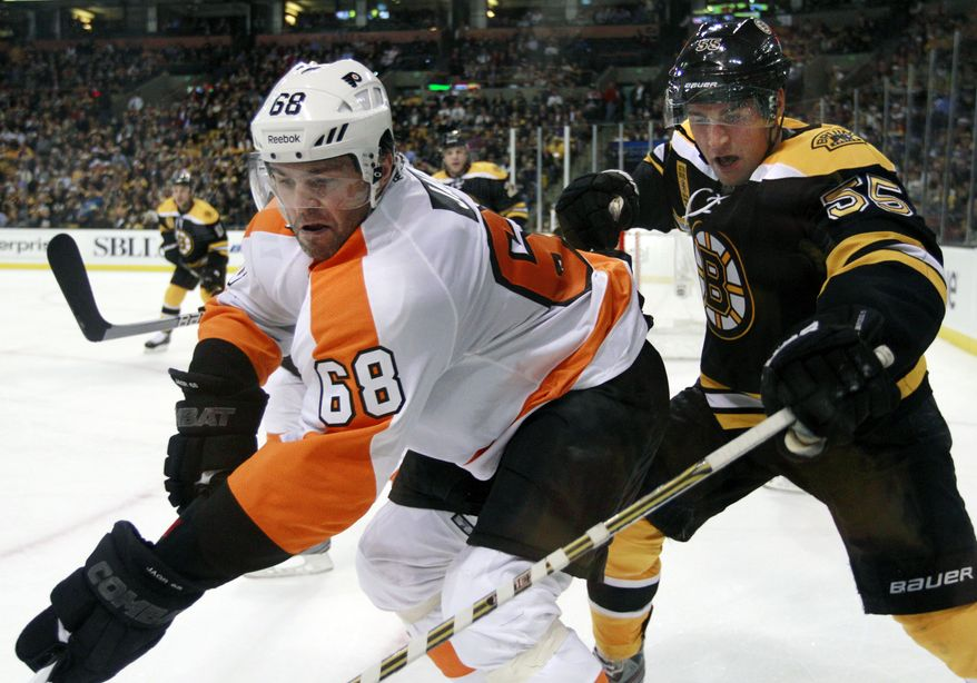 Flyers right wing Jaromir Jagr. (Associated Press file)