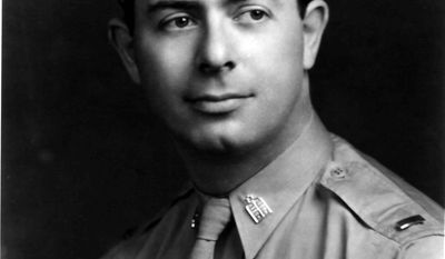 Rabbi Alexander Goode died on the torpedoed USAT Dorchester in 1943. He and three other Army chaplains gave their life jackets to save others on board the sinking ship. A total of 14 chaplains will be honored at the Jewish Chaplains Memorial dedication ceremony on Monday at 1 p.m. in Arlington National Cemetery. (JEWISH HISTORICAL SOCIETY OF GREATER WASHINGTON)