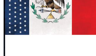Illustration: United States of Mexico by Linas Garsys for The Washington Times