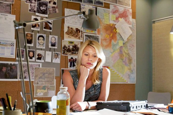 Claire Danes stars as a CIA analyst who becomes convinced that a recently found POW is guilty of treason in the new Showtime series 'Homeland'. (Showtime)
