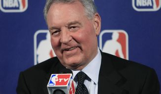 San Antonio Spurs owner Peter Holt speaks during a news conference after NBA labor talks Thursday, Oct. 20, 2011, in New York. NBA owners and players ended negotiations after about five hours Thursday, and no further discussions were scheduled. (AP Photo/Frank Franklin II)