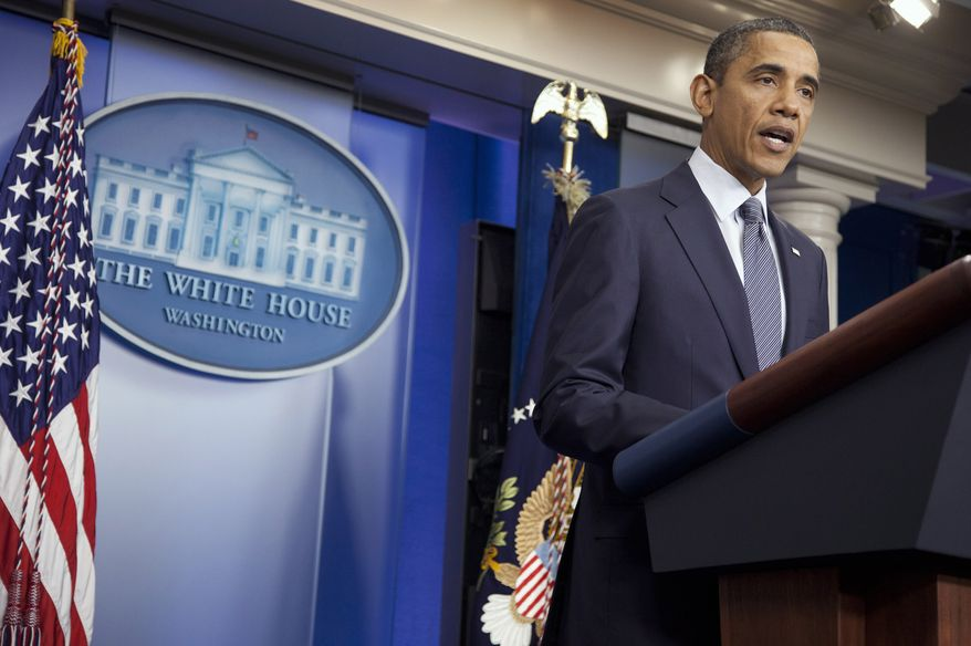 President Obama speaks at the White House on Oct. 21, 2011. He declared an end to the Iraq war and that all U.S. troops would be withdrawn from the country by year's end. (Associated Press)