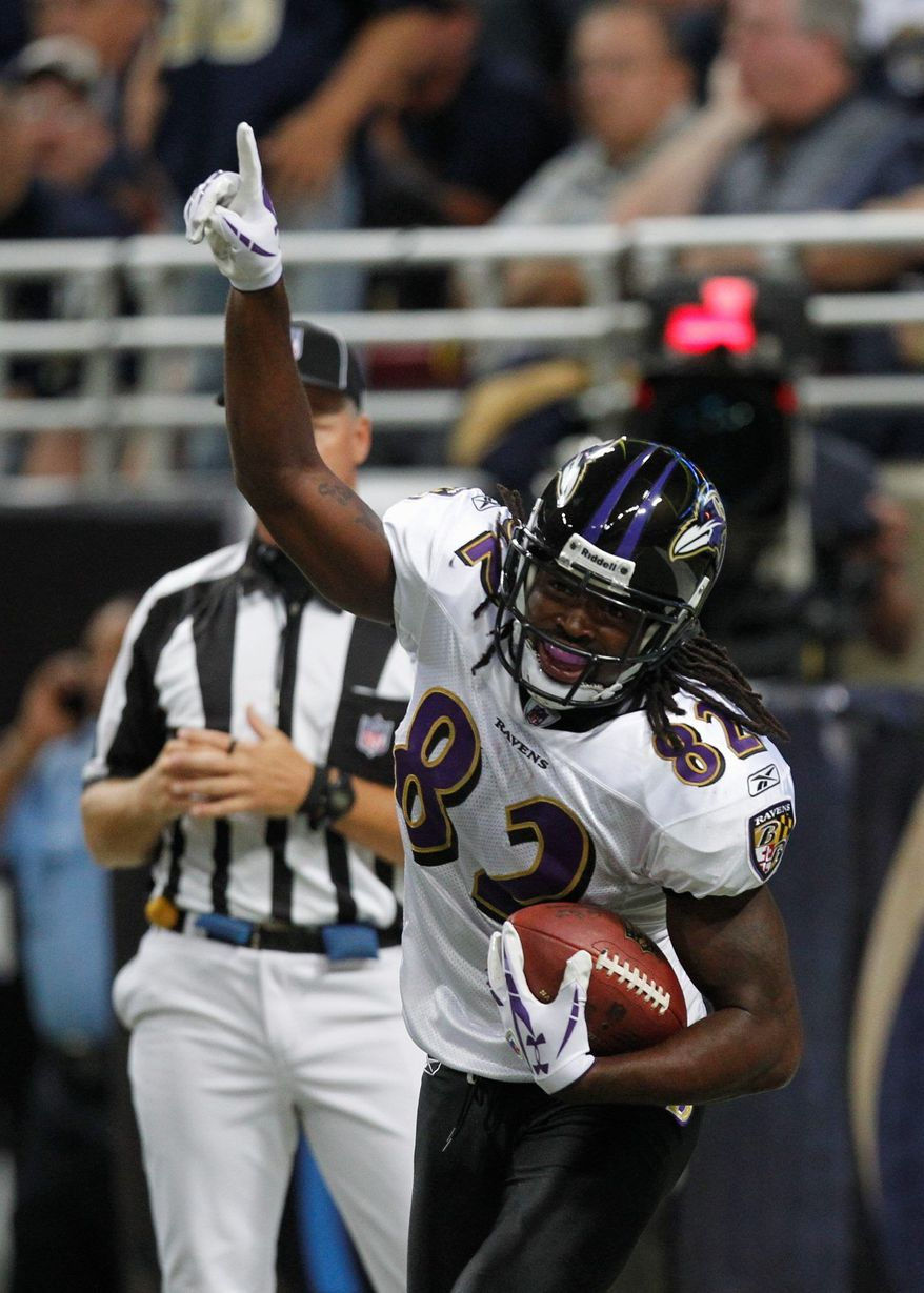 Baltimore Ravens receiver Torrey Smith (Associated Press)
