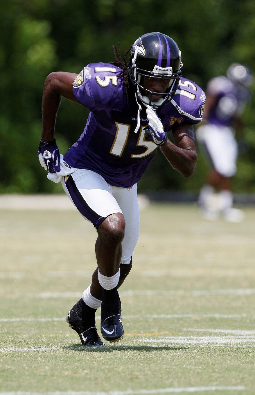 Former Maryland wide receiver LaQuan Williams has two catches for 18 yards in his rookie season for the Baltimore Ravens. (Associated Press)