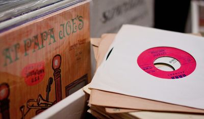 The D.C. Record Fair was created by DC Soul music company founder Kevin Coombe, Neal Becton of Som Records in Northwest, Vinyl District blogger Jon Meyers, and trade associate Chris Knott. (Pratik Shah/The Washington Times)