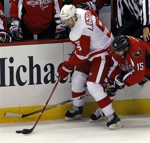 Red Wings defenseman Nicklas Lidstrom played his 1,500th regular-season NHL game Saturday night. (Associated Press)