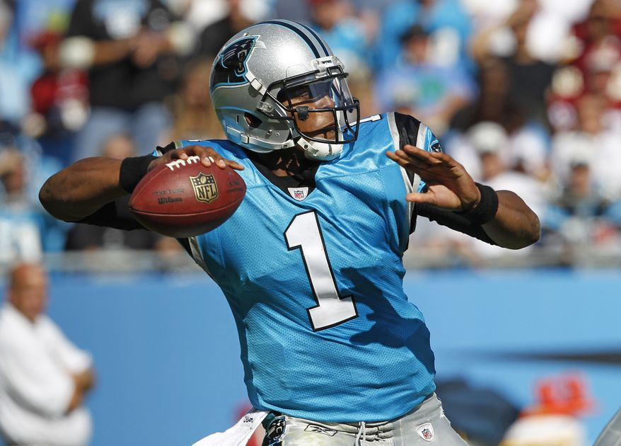 Carolina Panthers' Cam Newton was the main reason why the Washington Redskins went home losers Sunday afternoon. (AP Photo/Chuck Burton)
