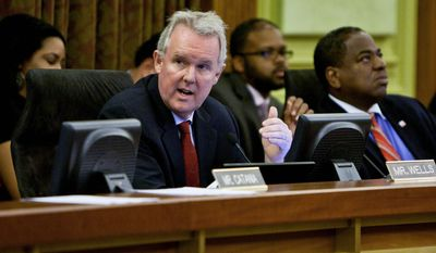 ** FILE ** D.C. Council member Tommy Wells  (T.J. Kirkpatrick/The Washington Times)