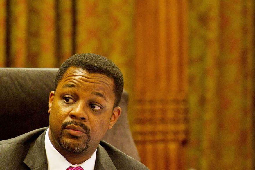 **FILE** D.C. Council Chairman Kwame R. Brown (The Washington Times)