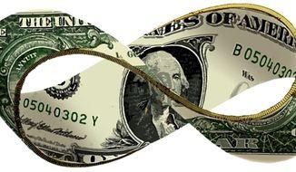 Illustration: Dollar strip by Alexander Hunter for The Washington Times