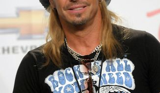 Singer and musician Bret Michaels poses in the press room at the 2011 Billboard Music Awards in Las Vegas on Sunday, May 22, 2011. (AP Photo/Dan Steinberg)