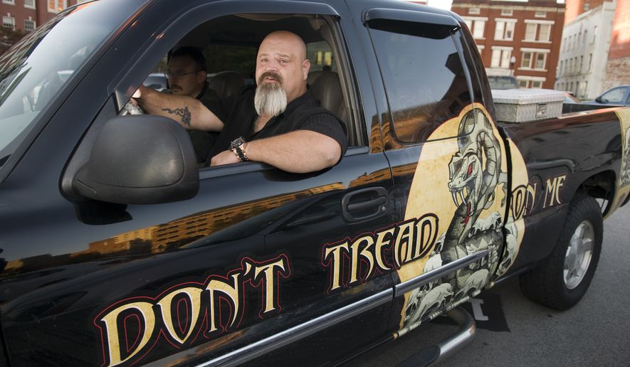 Darren Wesley Huff of Dallas, Ga., waits in his truck for the jury to return a verdict in his federal trial on firearms charges in Knoxville, Tenn., on Monday, Oct. 24, 2011. (AP Photo/Knoxville News Sentinel, J. Miles Cary)