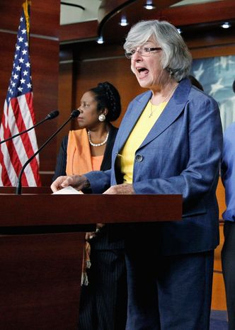 Democratic Rep. Lynn C. Woolsey opposed a bill that would overturn several NLRB rulings, but it passed a House committee 23-16. (Associated Press)
