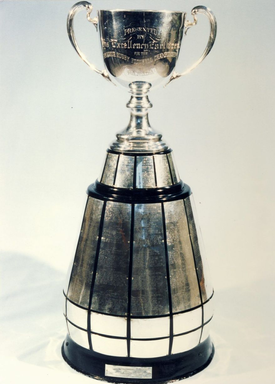 It's not as recognizable as the Lombardi Trophy, but Canada's Grey Cup is a symbol of the country's long-standing tradition of playing America's favorite sport. (Canadian Football Hall of Fame)