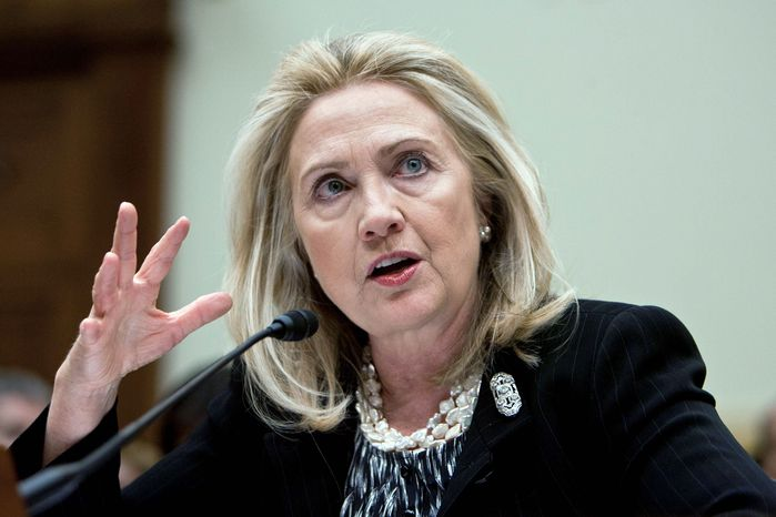 """We want to fight, talk and build all at the same time,""Secretary of State Hillary Rodham Clinton told the House Foreign Affairs Committee on Wednesday about terrorists in Pakistan and Afghanistan. (T.J. KIRKPATRICK / THE WASHINGTON TIMES)"