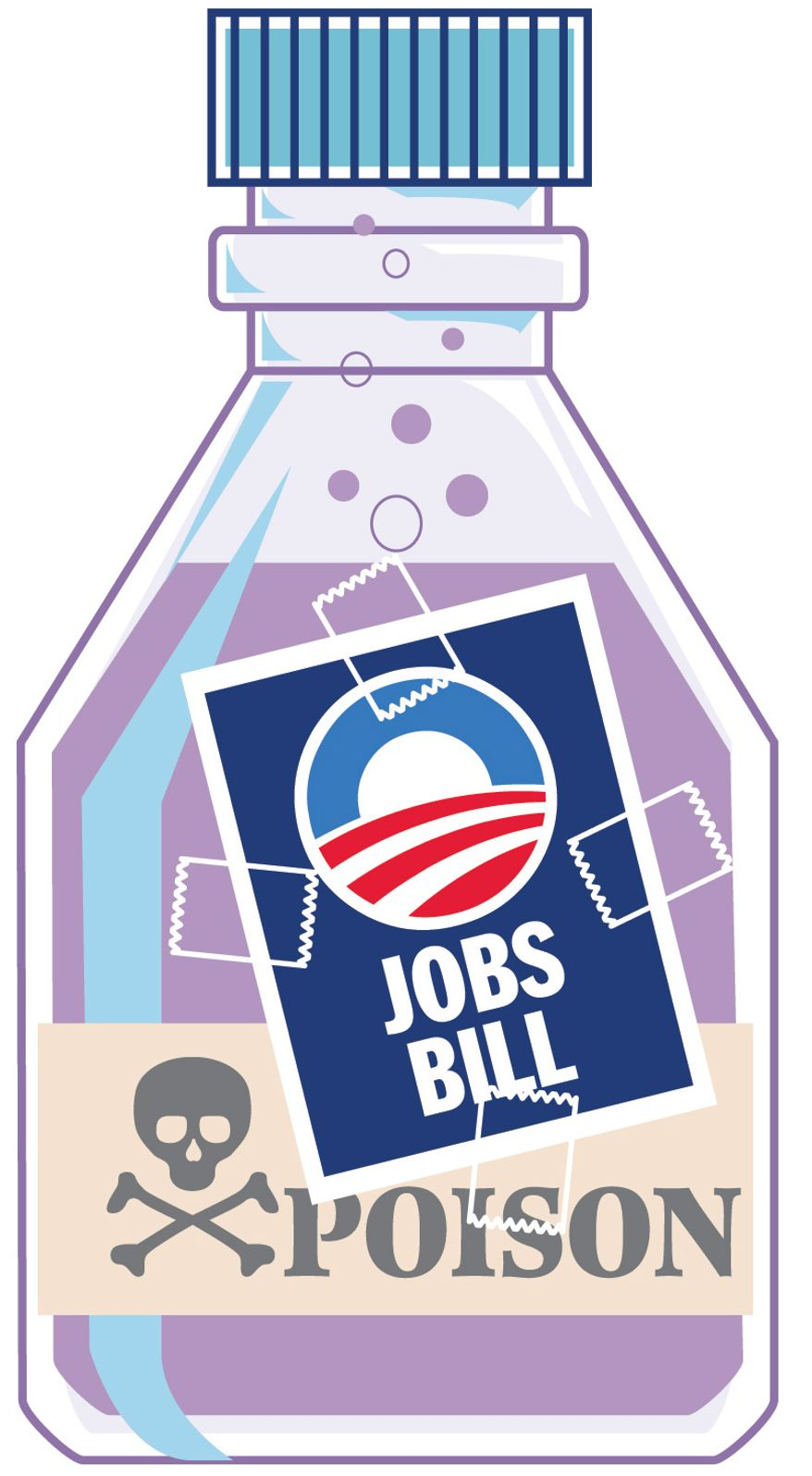 Illustration: Poison Jobs by Greg Groesch for The Washington Times
