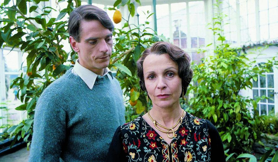 """Jeremy Irons is the protagonist and narrator of the PBS series """"Brideshead Revisited,"""" which mesmerized TV viewers 30 years ago, and Claire Bloom plays Lady Marchmain. An anniversary edition is available in DVD ad Blu-ray. (Photograph provided by Acorn Media)"""