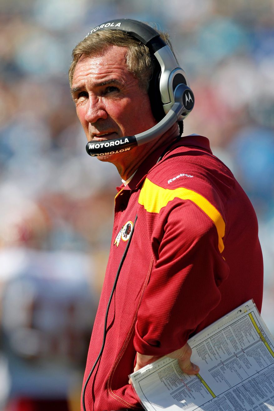 When the present is going south, NFL head coaches try to sell the future. But Washington coach Mike Shanahan doesn't appear to have much of a future to sell. (Associated Press)