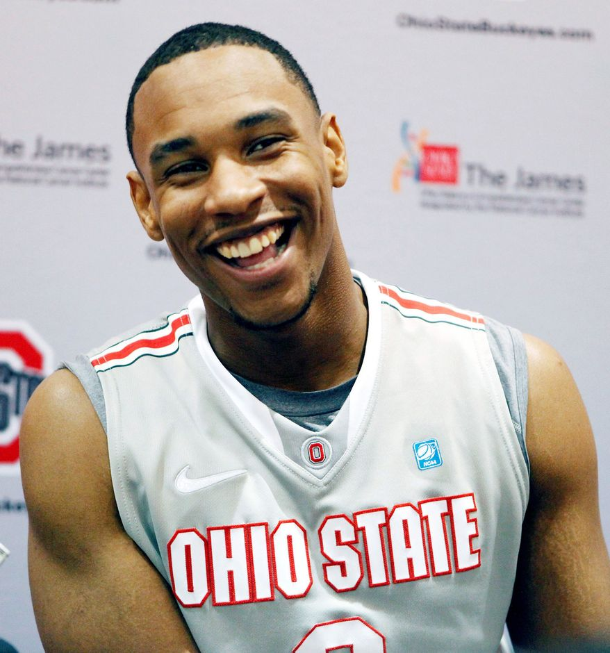 Ohio State's Jared Sullinger is the only unanimous selection by the 65-member national panel. The Buckeyes are ranked No. 3 in the Associated Press preseason Top 25. (Associated Press)