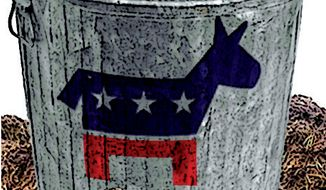 Illustration: Democrats choosing slime
